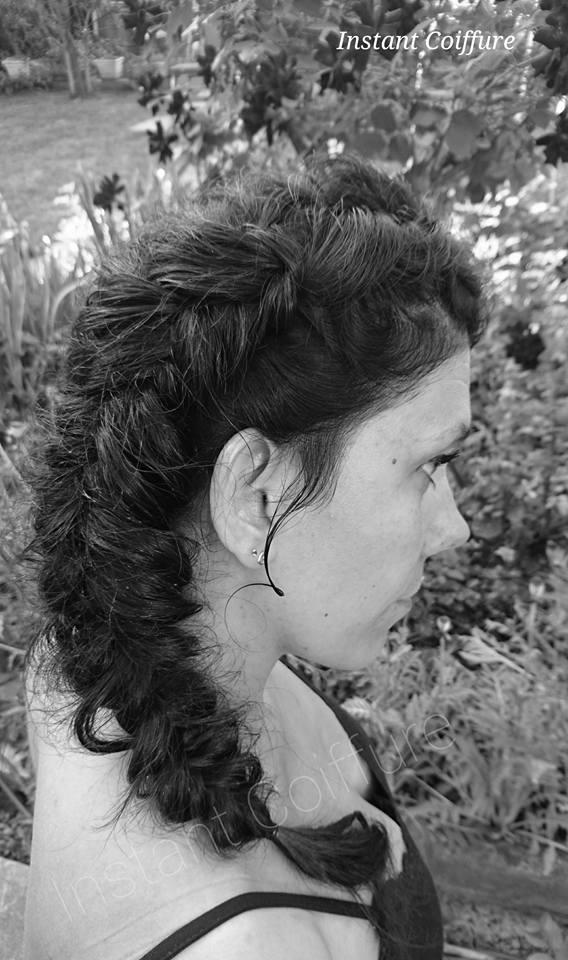 Tresse baptème Instant coiffure