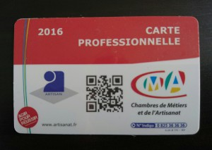 carte professionnelle Instant Coiffure CMA